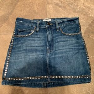Frame denim studded skirt sz. 24
